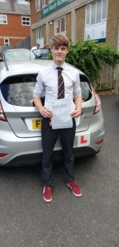 02 July 2019 - Seb passed in Sevenoaks with only 1 minor driving fault! Well done Seb, that was an excellent result.