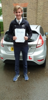 12 June 2019 - James passed 1st time with only 1 minor driving fault! Well done James, that was an excellent result.