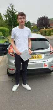 18 July 2109 - Aaron passed 1st time with only 3 minor driving faults! Well done Aaron, that was an excellent result.