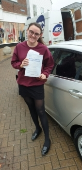 10 December 2019 - Jodie passed in Sevenoaks with only 4 minor driving faults! Well done Jodie, that was an excellent result...